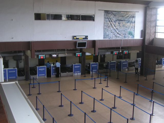 Check-in conveyor at Bamako airport