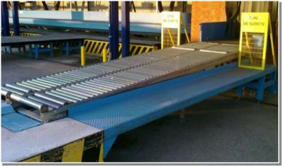 Table à rouleaux libres
