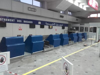 Baggage handling at departure area