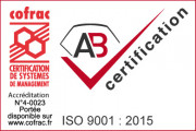 ISO 9001-2015 COFRAC, AB Certification